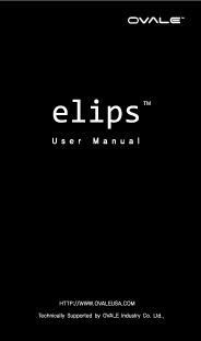 Ovale Elips Manual