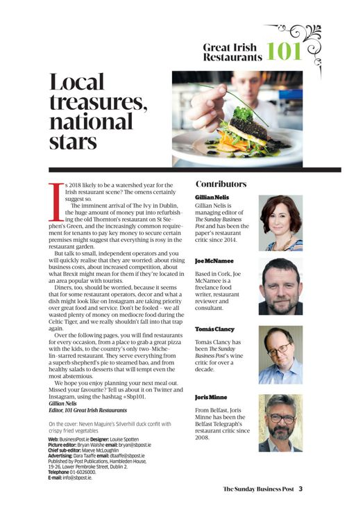 101 Great Irish Restaurants 2018