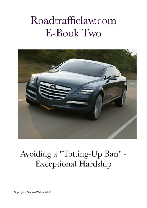 Avoid a Totting Up Ban E-Book