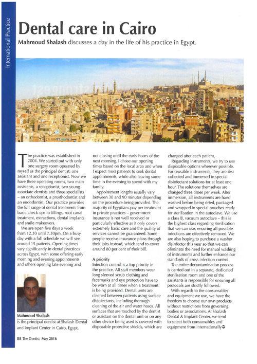 Dentist May 16 Eschmanm Article Mahmoud Shalash