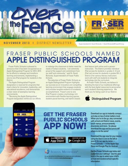 November 2013 Over the Fence Newsletter