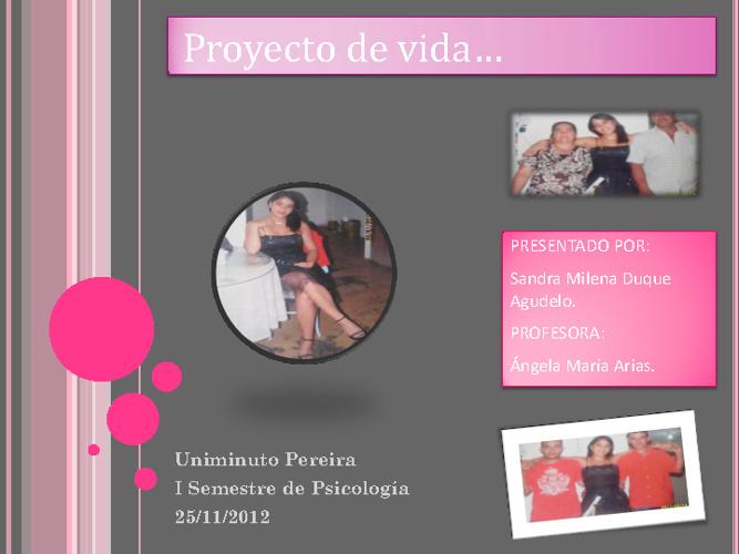 Mi Proyecto De Vida...