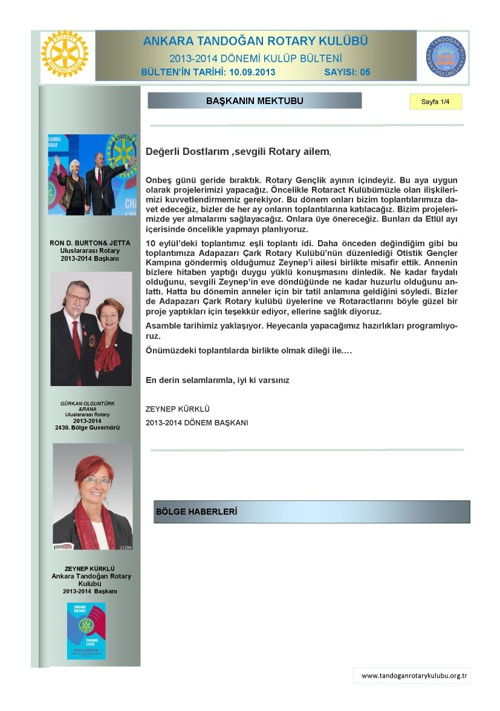 Tandoğan Rotary Bülten-05