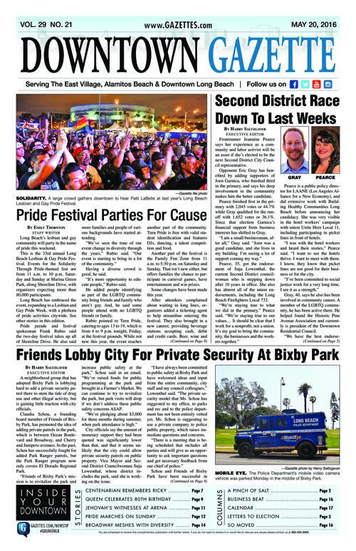 Downtown Gazette     May 20, 2016