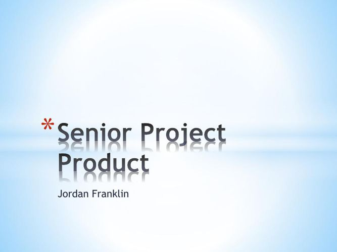 Senior Project Product
