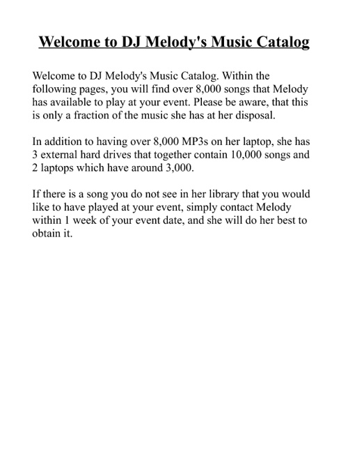 Music Library 1 / 4 / 2012