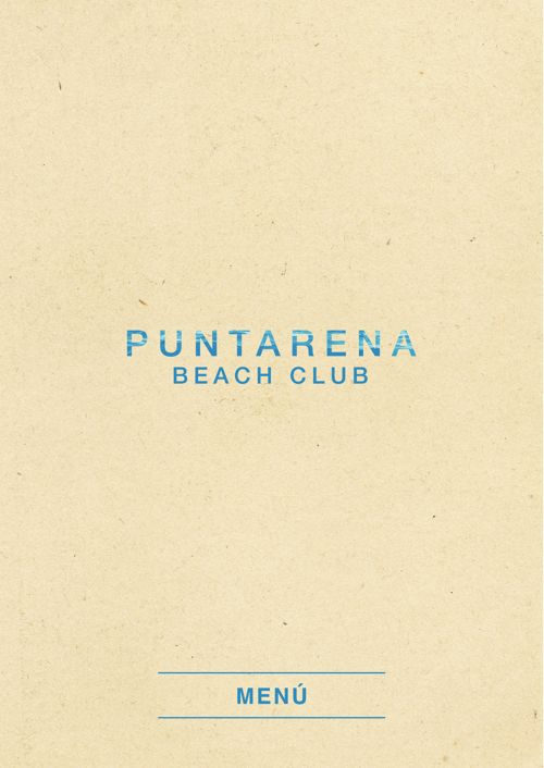 Puntarena Beach Club Menu ABR2017