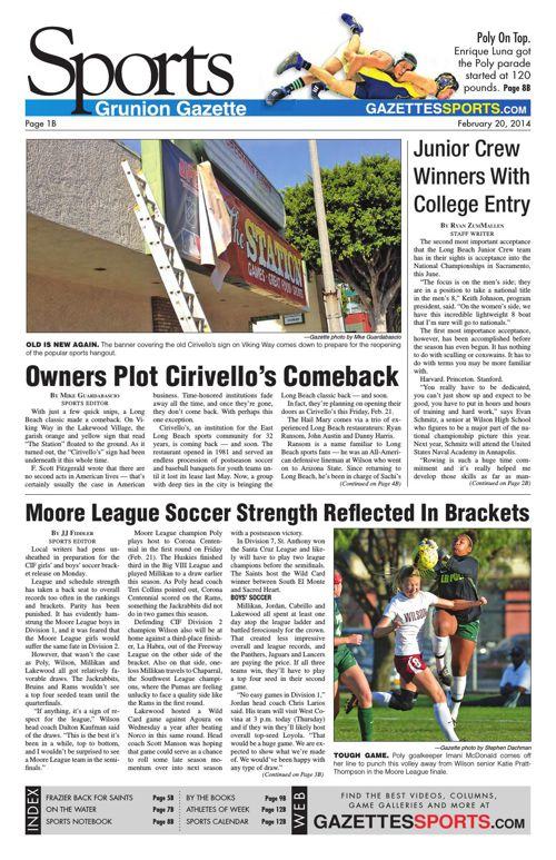 Gazette Sports   February 20, 2014