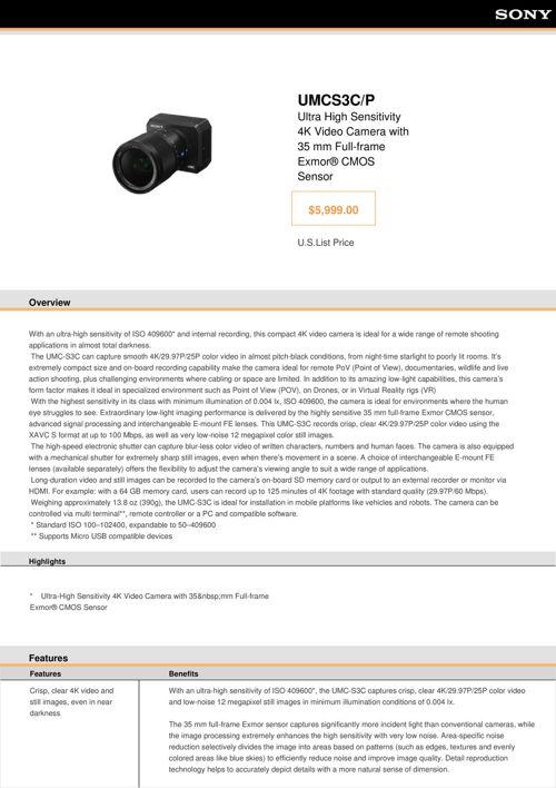 Sony UMCS3C_P