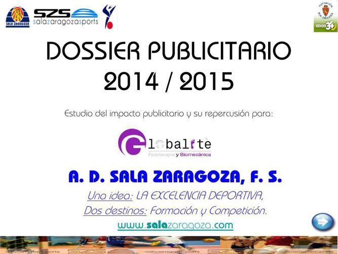 DOSSIER PUBLICITARIO 2014_15 GLOBALITE
