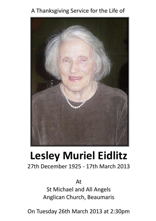 Lesley Eidlitz