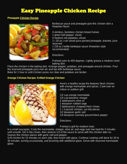 Easy Pineapple Chicken Recipe