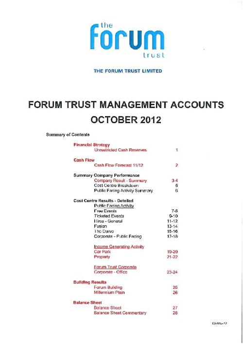 APDG October2012 Management Accounts