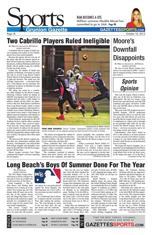 Gazette Sports | October 10, 2013