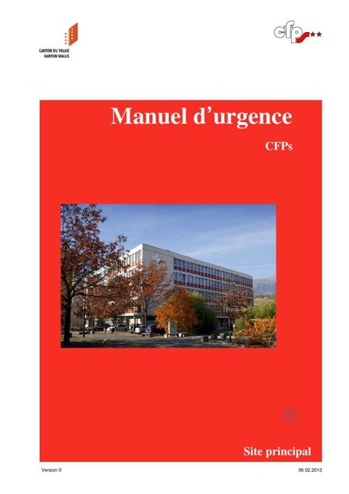 Manuel d'urgence CFPS