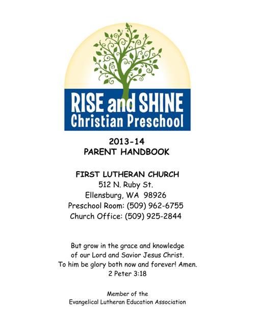 Rise & Shine Preschool Handbook