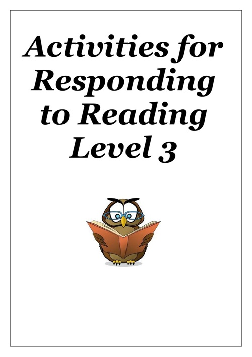 Reading Activities for Working Towards Level 3