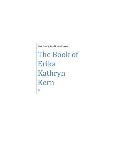 The Book of Erika Kathryn Kern