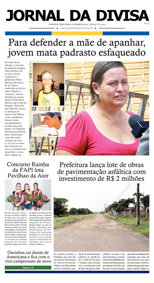 JORNAL DA DIVISA - Edição de 17 de Abril de 2012.
