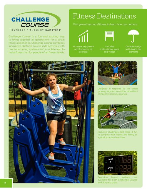 PARK N PLAY DESIGN OUTDOOR FITNESS PRODUCT GUIDE