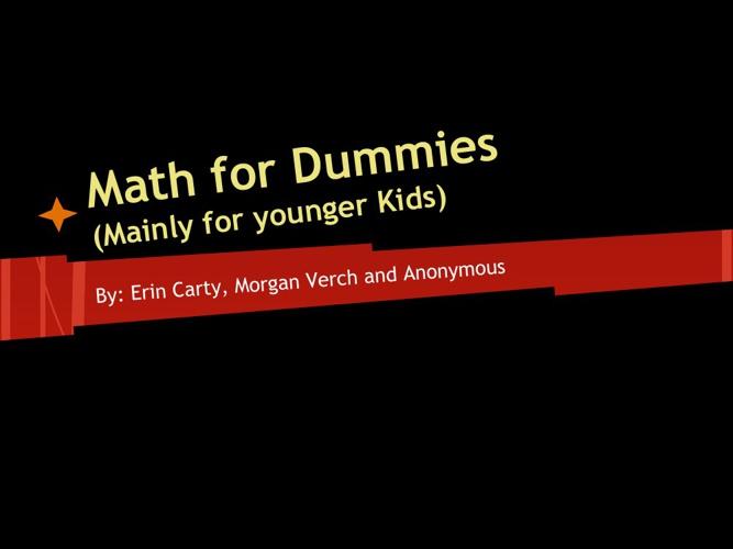 math for dummies