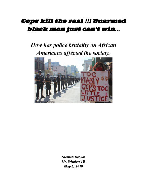Police Brutality on African Americans