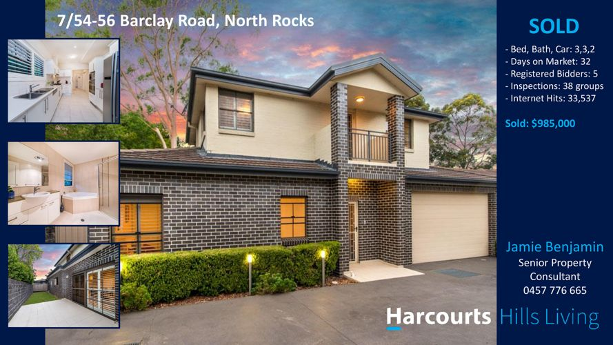 Sold at Auction! 7/54 Barclay Road, North Rocks