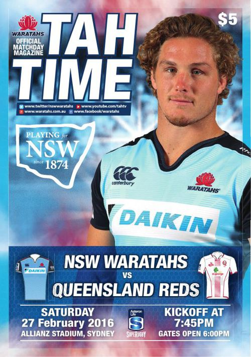 WARATAHS V REDS MATCH PROGRAM