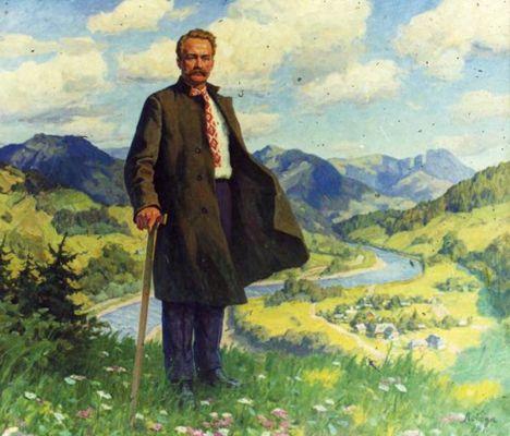 портрет Івана Франка у Криворівні роботи художника Івана Лободи