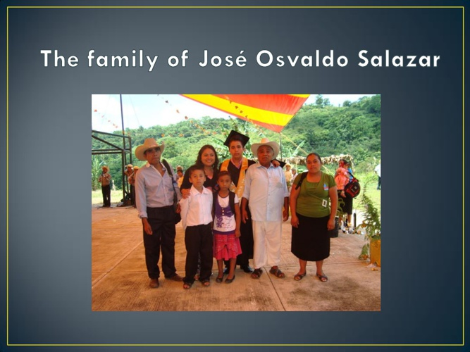 The Family of José Osvaldo Salazar