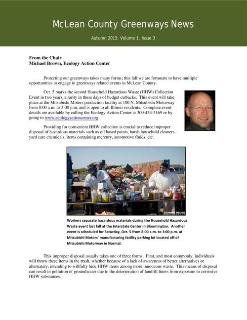 McLean County Greenways News Autumn 2013 FULL