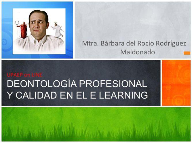Aula Virtual Deontología Profesional