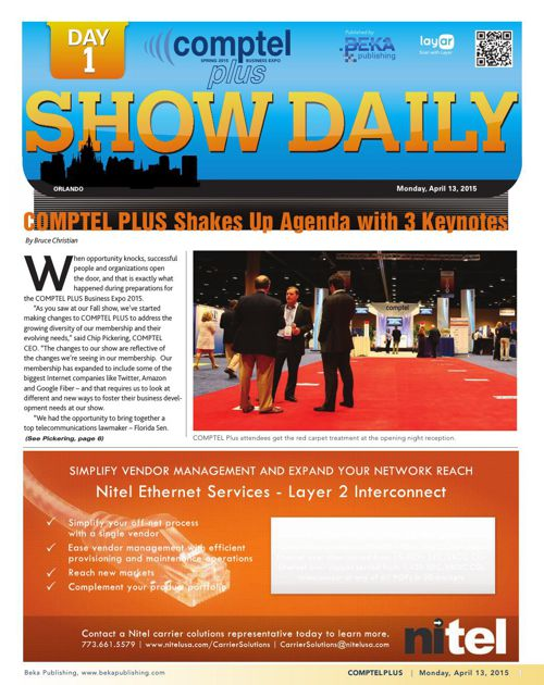 The Comptel Plus (Spring 2015) – Day 1 Show Daily