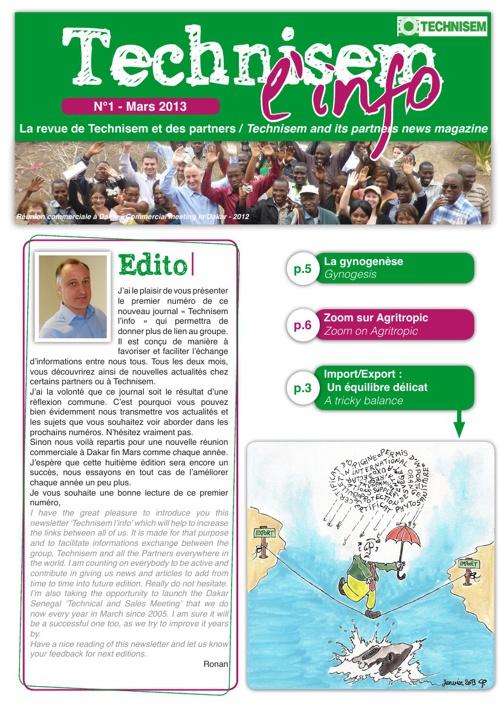 Technisem Newsletter 1st edition