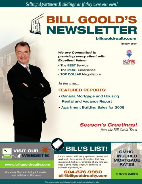 Bill Goold Newsletter Jan 2009