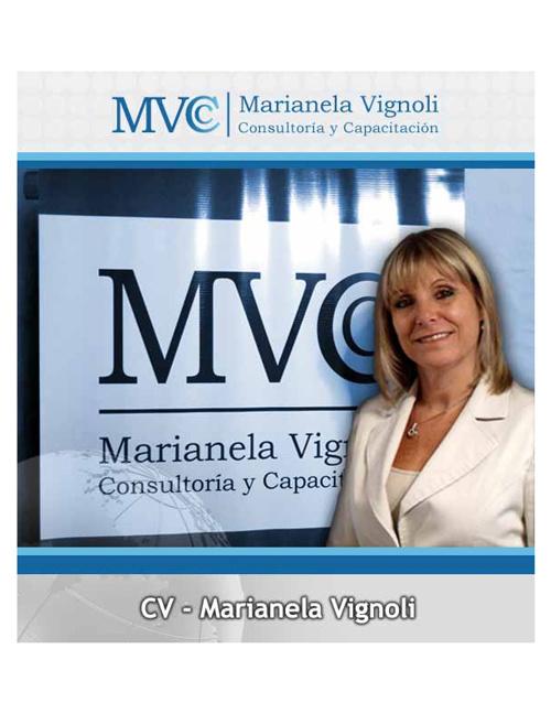 Curriculum Marianela Vignoli