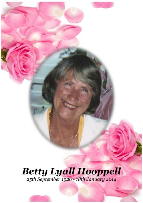 4 Order of Service for Betty Hooppell
