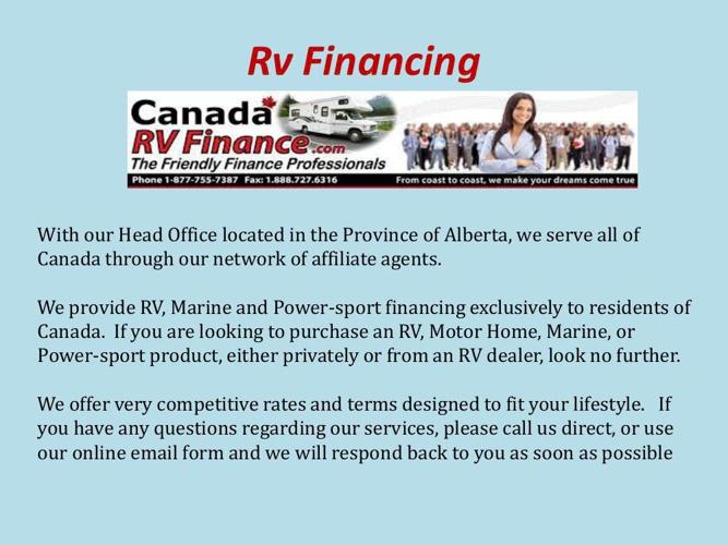 Rv Financing