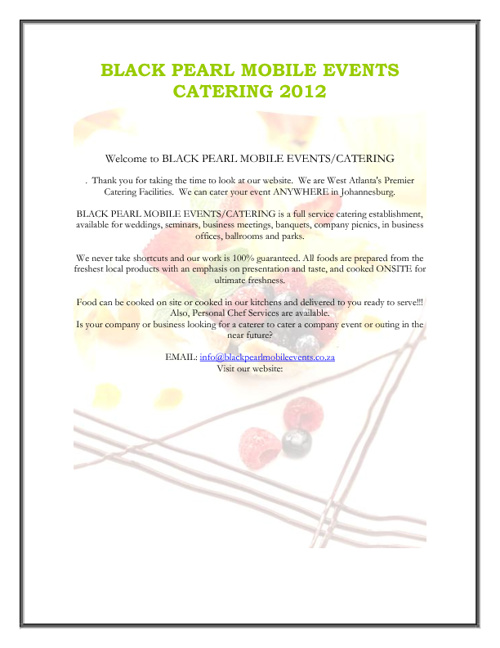 Black Pearl Mobile Catering