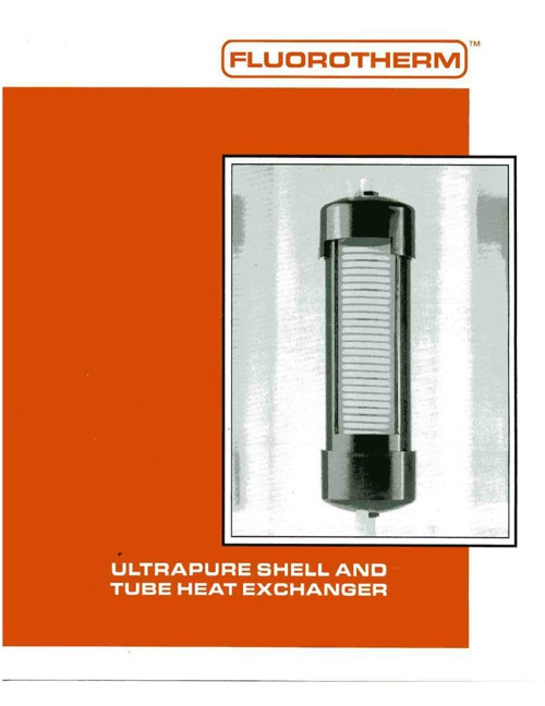 Ultrapure Shell And Tube Heat Exchanger