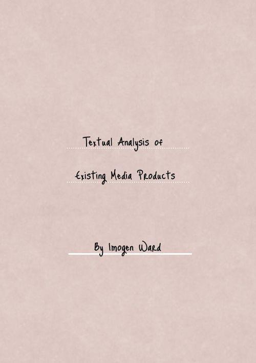 EN AS Media Coursework Analysis