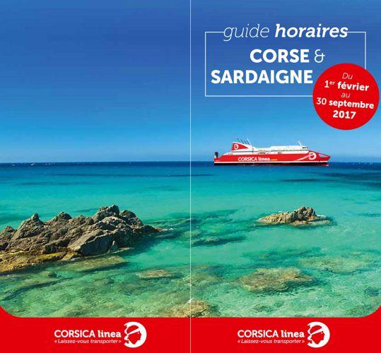 Guide Horaires Corsica Linea - Corse / Sardaigne 2017