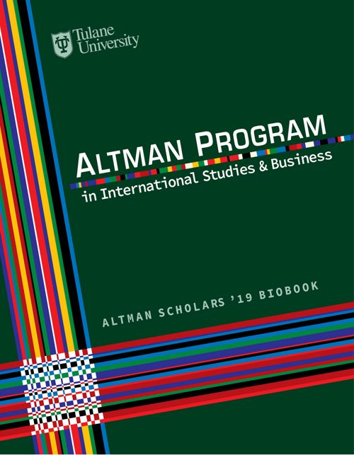 Altman Scholars '19 Bio Book