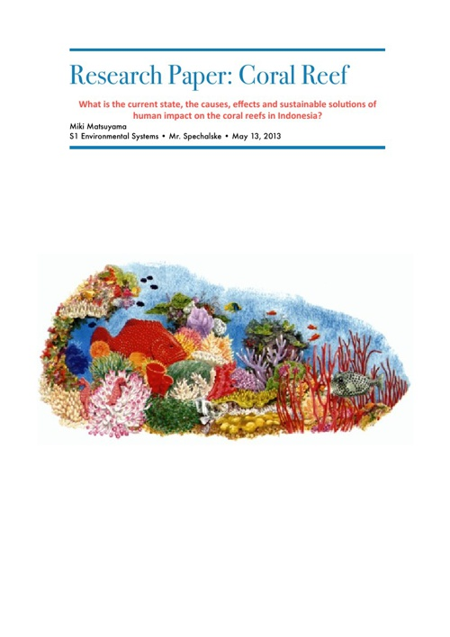 Coral Reef Research Paper