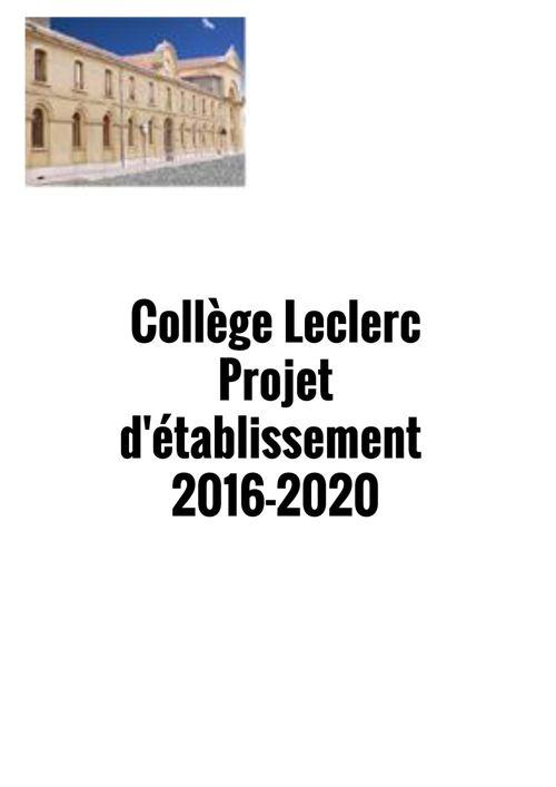 Projet d'établissement Leclerc
