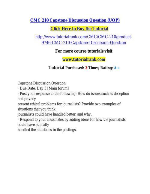 CMC 210 learning consultant / tutorialrank.com