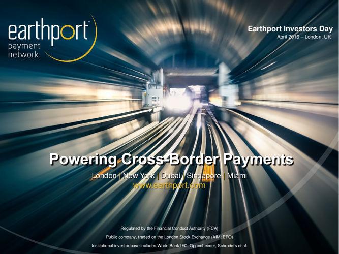 Earthport Investor Day 2016 presentation