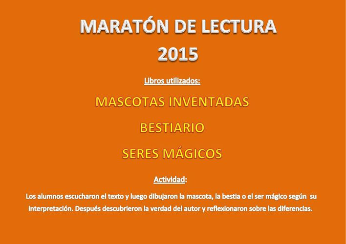 MARATON DE LECTURA