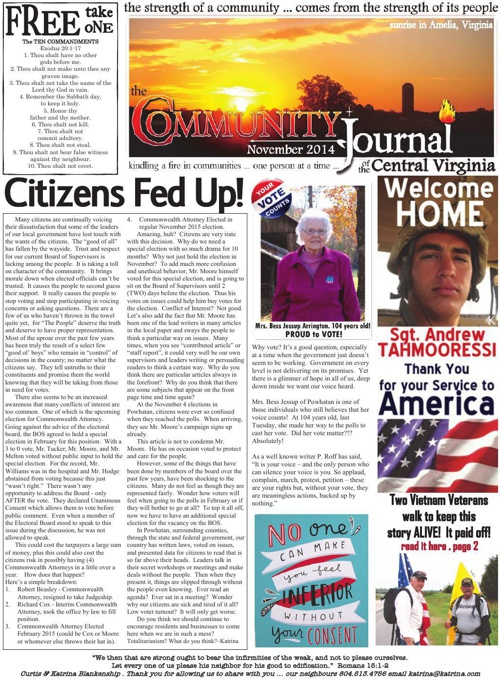 The Community Journal of Central Virginia . November 2014