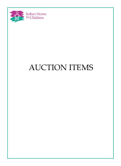 Italian Home for Children Auction Preview